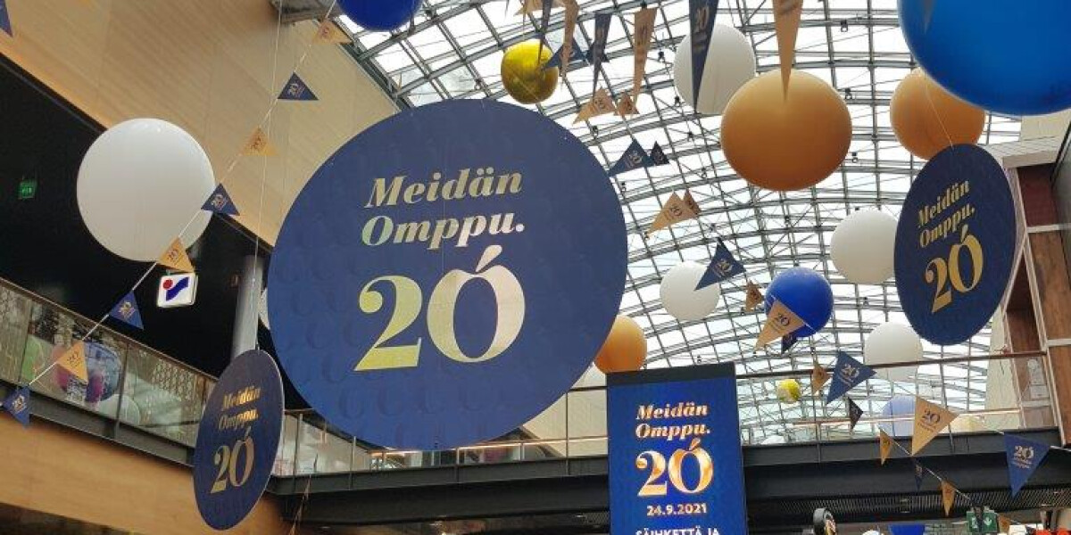 Metroprindi trükitud Viscomist reklaamid Iso Omena kaubanduskeskuses