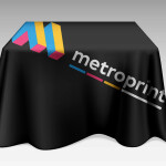 Printed tablecloth with your design